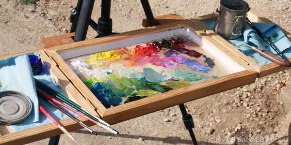 Как работать на палитре красок